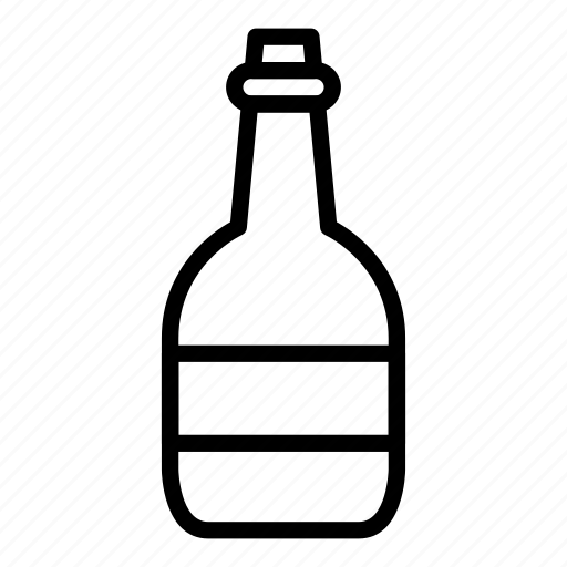 bottle, drink, glass, perfume icon