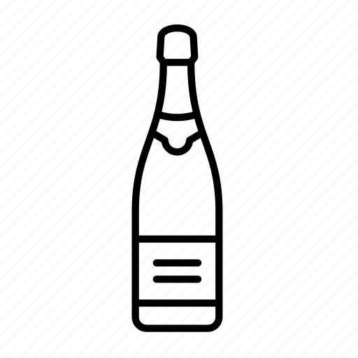 alcohol, beverage, bottle, celebration, champagne, party, wine icon