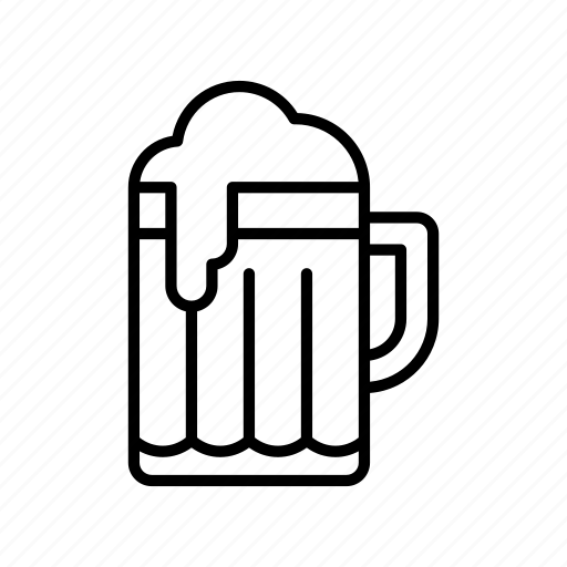 alcohol, beer, beverage, jar, mug, pint, pub icon