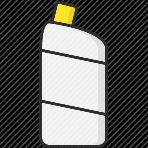 bottles, cleaner, harpic, toilet icon