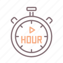 clock, hourly, play, timer