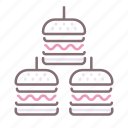 burgers, eat, food, sliders icon