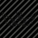badge, bowling, element, emblem, king, label, sport