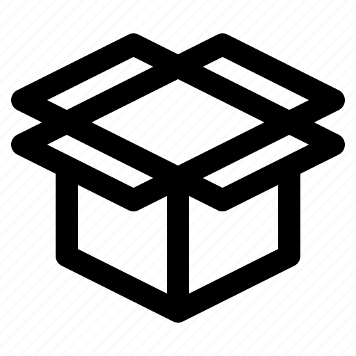 box, cardboard, delivery, open, package, packaging, shipping icon