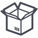 box, cargo, delivery, logistics, package, shipping, transport icon