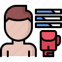 boxer, boxing, fighting, gloves, option, skill, sport icon