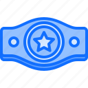 award, belt, boxer, boxing, champion, fighting, sport icon