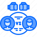 boxer, boxing, fight, fighting, sport, versus icon