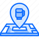 boxer, boxing, fighting, location, map, pin, sport