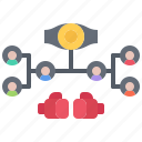 boxer, boxing, fighting, grid, sport, tournament icon