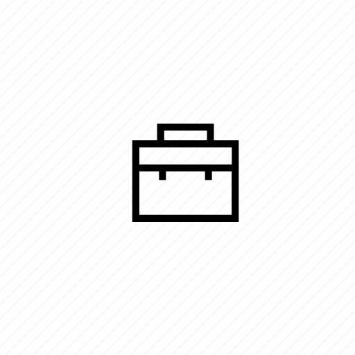 briefcase, business, businessman, office, portfolio, stroke, study icon