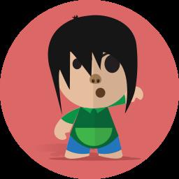 boy, cartoon, character, cheerful, child, school, smile icon