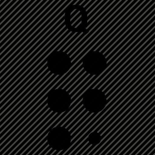 Alphabet, braille, letter, q icon - Download on Iconfinder
