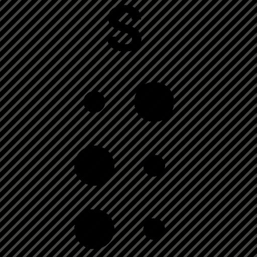 alphabet, braille, letter, s icon