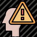 alarm, brain, healthcare, medical, psychology, thinking icon