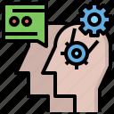 brain, communication, healthcare, medical, psychology, thinking icon