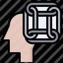 brain, harmony, healthcare, medical, psychology, thinking icon