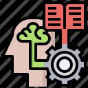 brain, memorize, psychology, seo, thinking, web icon