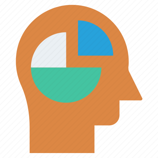 Chart, diagram, head, human head, mind, thinking icon - Download on Iconfinder