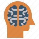 brain, head, human head, mind, neurology, thinking icon