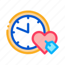 clock, heart, home, mail, phone, time icon