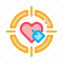 heart, target icon