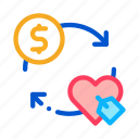 cash, coin, dollar, heart, money