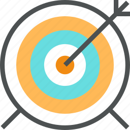 arrow, bullseye, dart, game, goal, mission, success, target icon