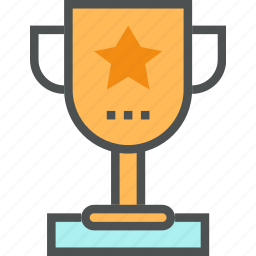 award, cup, goblet, gold, sport, trophy, victory, win icon