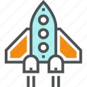 launch, rocket, shuttle, spacecraft, spaceship, start, startup, takeoff icon
