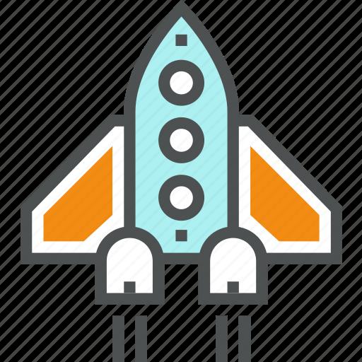 Launch, rocket, shuttle, spacecraft, spaceship, start, startup icon - Download on Iconfinder