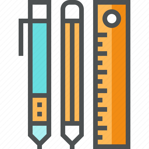 accessories, design, drawing, pen, pencil, ruler, sketching, tools icon