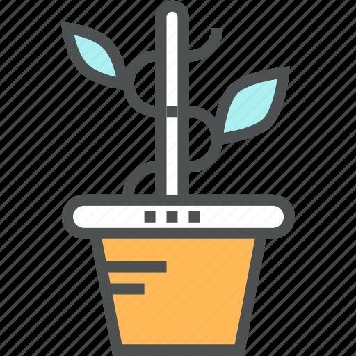 finance, growth, money, plant, pot, profit, startup, tree icon