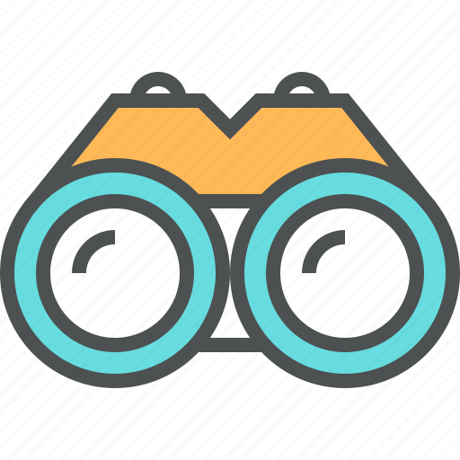 binocular, equipment, looking, search, sight, view, vision icon