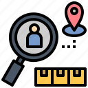 customer, identify, market, product, research icon