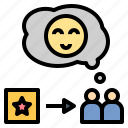 loyalty, product, proposition, satisfied, value icon
