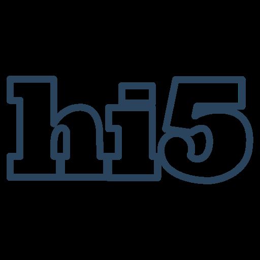 five, hi, hi 5, hi5, media, social icon icon