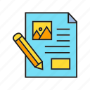 document, paper, writing icon