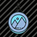 chain, gift, pin, sticker icon