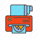 device, document, electronic, equipment, print, printer icon