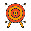 crosshair, dart, goal, marketing, target icon