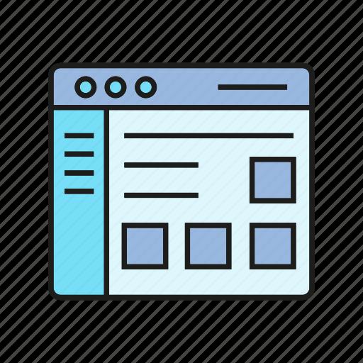 interface, internet, web, web design icon