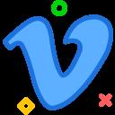 brand, logo, network, social, vimeo icon