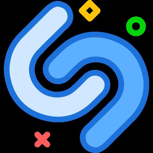 brand, logo, network, shazam, social icon