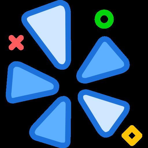 brand, logo, network, social, yelp icon