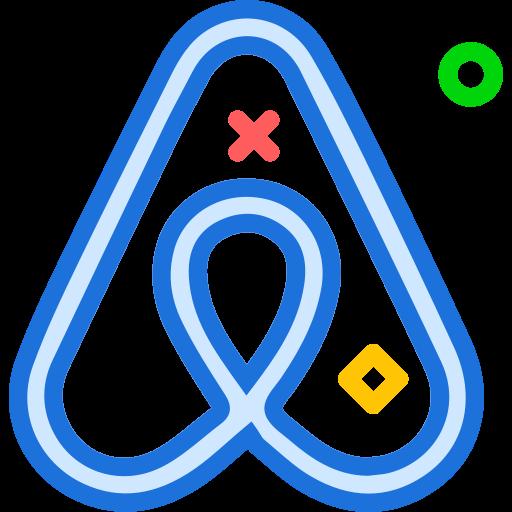 airbnb, brand, logo, network, social icon