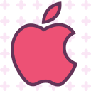 apple, brand, logo, network, social icon