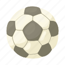 ball, cartoon, football, game, soccer, sport, white icon