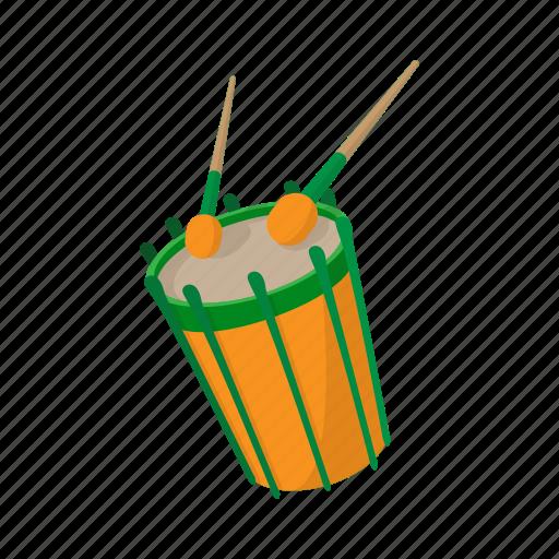cartoon, drum, instrument, music, musical, percussion, sound icon