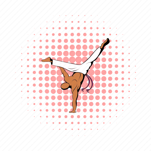 capoeira, comics, dance, dancer, design, fitness, sport icon